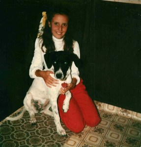 me and Dolly when she was a pup
